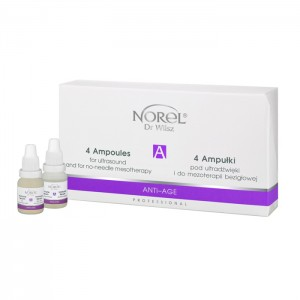 4 AMPOULES FOR ULTRASOUND AND FOR NO-NEEDLE MESOTHERAPY