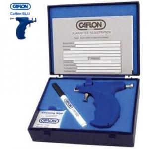 Пістолет для проколювання вух Caflon Blu міні в наборі зі зразками кульчиків