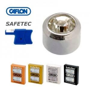 Кульчики-пуссети для проколу вух Caflon Safetec (в наявності - різні кольори та матеріали)