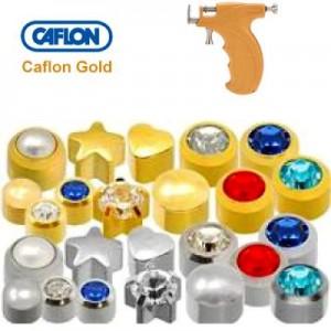 Кульчики для проколу пістолетом Caflon Gold (в наявності - різні кольори та матеріали)