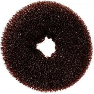 Бублик для зачісок коричневий середній