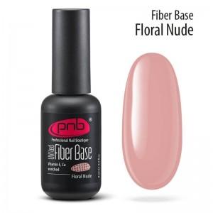 УФ/ЛЕД Основа під гель-лак з нейлоновими волокнами Fiber Base Floral Nude, 8 мл